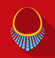 necklace with diamond icon in flat style isolated vector image vector image