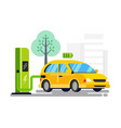 new refueling for electric car vector image vector image