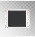 photo frame with gold floral pattern vector image vector image