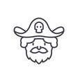 pirate line icon sign on vector image vector image