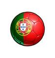 portoguese flag football - soccer ball vector image vector image