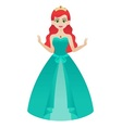Princess in Green Gown vector image vector image