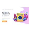 repair household appliances concept landing vector image vector image