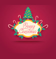 retro banner for christmas and new year vector image