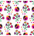 retro bohemian style floral bouquet pattern vector image vector image