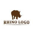 Rhino logo design template rhino silhouette icon