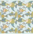 seamless vintage ornament variety fish vector image