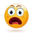 shocked face emoji icon vector image