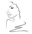 Sketch contour of woman head vector image vector image