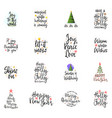 slogans for the new year christmas posters for an vector image vector image