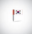 south korea flag pin vector image