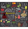 Spain doodles elements Hand drawn set with spanish
