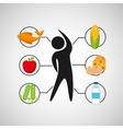 sport man nutrition health vector image