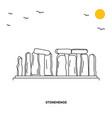 stonehenge monument world travel natural vector image