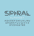 stylized font design alphabet letters and numbers vector image vector image