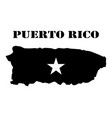 symbol of isle of puerto rico and map vector image vector image