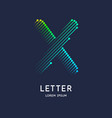the letter x latin alphabet display vector image vector image