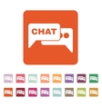 The speech bubble with a chat icon Internet and vector image vector image
