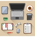 Top view on business workplace vector image vector image