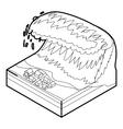Tsunami wave icon outline style vector image vector image