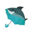 ute dolphin umbrella on a vector image