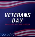 veterans day usa flag banner vector image vector image