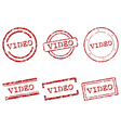 Video stamps vector image vector image