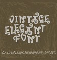 vintage letters decorative typeface old style vector image