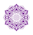 Violet Flower Mandala Over White vector image vector image