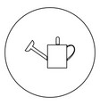 watering can icon black color in circle vector image