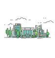 city business center vector image