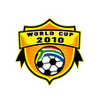 soccer world cup 2010 south africa vector image