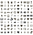 100 Soccer Icons set vector image vector image