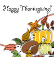 Abstract Thanksgiving text frame vector image vector image