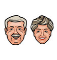 aged people happy grandfather and grandmother vector image vector image