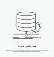 algorithm chart data diagram flow icon line gray vector image