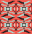 aztec tribal black and blue and red pattern vector image