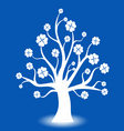 Beautiful abstract art tree on blue background vector