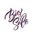 big sale lettering paint brush texture vector image vector image
