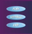 blue oval options selection windows set vector image vector image