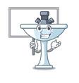 bring board cartoon sink in the kitchen room vector image