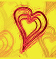 brushed hearts seamless vector image