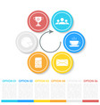 business infographics with arrow vector image vector image