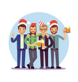 businessmen celebrate new year and christmas vector image vector image