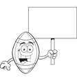 Cartoon football holding a sign vector image vector image