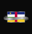 central african republic flag ribbon banner design vector image vector image