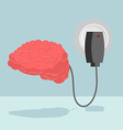 Charge brain Charger for cerebrum marrow is vector image vector image