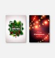 christmas brochures templates decorative cards vector image vector image