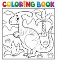 coloring book dinosaur theme 4 vector image vector image