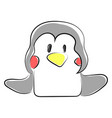 cute penguin on white background vector image vector image
